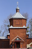 Restored wooden Orthodox church of the 19th century. Royalty Free Stock Image