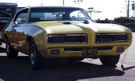 Restored Yellow Pontiac GTO Royalty Free Stock Photo