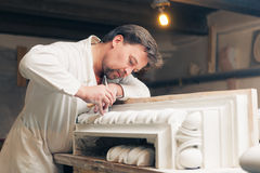 Restorer making his work Royalty Free Stock Images