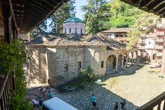 Restorers in the Troyan Monastery, Bulgaria Royalty Free Stock Images