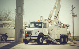 Restoring power maintenance after storm Stock Photography