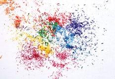 Restos coloridos del grafito Fotos de archivo