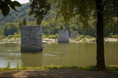 Restos da ponte da guerra civil fotografia de stock royalty free