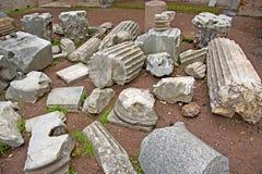 Restos da ruína em Roma, Italy Fotografia de Stock Royalty Free