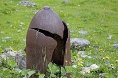 Restos de épocas belicosos em Tirol foto de stock royalty free