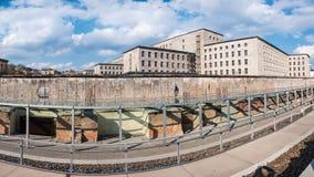 Restos de Berlin Wall Imagenes de archivo