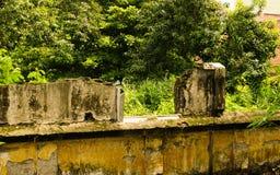 Restos de construção abandonados em um jardim Semarang recolhido foto Indonésia Imagem de Stock Royalty Free