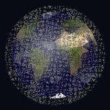 Restos de espaço que orbitam a terra Imagem de Stock Royalty Free