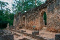 Restos de Gede en Kenia, África Imagen de archivo libre de regalías