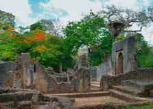 Restos de Gede en Kenia fotografía de archivo