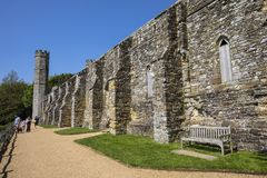 Restos de la abadía de la batalla en Sussex del este Foto de archivo
