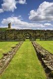 Restos de la abadía de Byland Foto de archivo