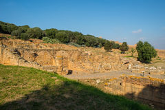 Restos de la ciudad romana de la necrópolis de Chellah rabat marruecos imagen de archivo