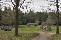 Restos de la residencia Werwolf de Adolf Hitler Imagenes de archivo