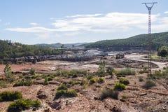 Restos de las minas viejas de Riotinto en Huelva España fotos de archivo libres de regalías