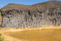 Restos de las minas viejas de Riotinto en Huelva España foto de archivo