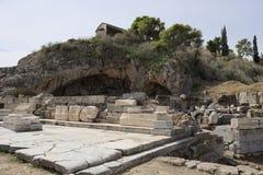 Restos de Lesser Propylaia, Eleusis antiguo imagen de archivo