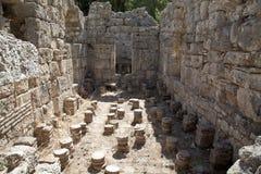 Restos de los baños romanos en Phaesalis Imagen de archivo libre de regalías
