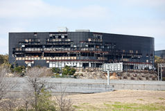 Restos de un edificio de Austin después de una caída de plano imágenes de archivo libres de regalías
