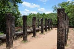 Restos de un templo, en ciudad antigua, Polonnaruwa, Srí Lanka fotos de archivo libres de regalías