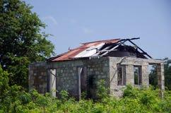 Restos de una cabaña vieja en la plantación de Betty Hope Imagenes de archivo