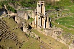 Restos del Amphitheatre romano en Volterra Fotografía de archivo