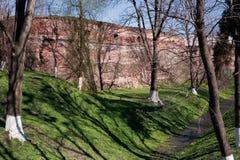 Restos del castillo de Radziwill Imagen de archivo