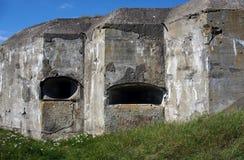 Restos del fortalecimiento de Osowiec Fotografía de archivo