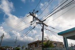 Restos del huracán Maria Fotos de archivo libres de regalías