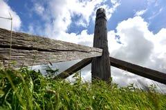 Restos del molino de viento viejo Fotografía de archivo libre de regalías
