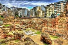 Restos del palacio de Galerius en Salónica fotos de archivo