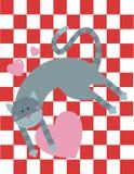 Restos do gato do amor no assoalho Imagem de Stock Royalty Free