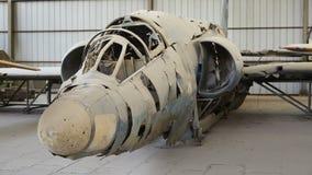 Restos enemigos de los aviones militares en la Segunda Guerra Mundial Imagen de archivo