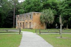Restos históricos de Horton House, ilha de Jekyll, Geórgia, 2015 Fotografia de Stock Royalty Free