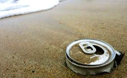 Restos na praia Fotografia de Stock