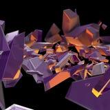 Restos roxos abstratos com uma luz da parte traseira da laranja Fotografia de Stock Royalty Free