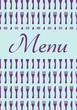 Restourant menu Stock Image