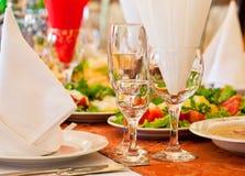 restourant s-tabell Royaltyfri Bild