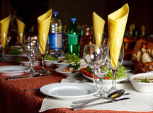 Restourant's table Royalty Free Stock Image
