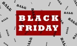 Restrained elegance banner for sales on Black Friday. royalty free illustration