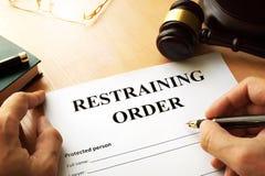 Free Restraining Order. Stock Images - 98661684