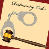 Restraining Order Royalty Free Stock Photo