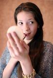 Restricción del maquillaje Foto de archivo libre de regalías