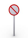 Restrict sign. 3d rendering illustration of a restrict sign. A clipping path is included for easy editing Royalty Free Stock Image
