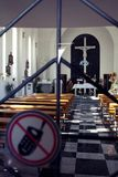 Restricted access in church Stock Image