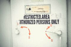 Restricted access door Stock Images