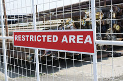 Restricted Area Royalty Free Stock Photo