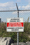 Restricted area Stock Images