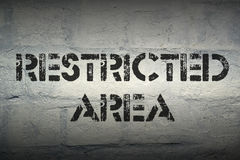 Restricted area Royalty Free Stock Photography