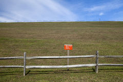 Restricted Area. The restricted area on the dam at the the Blue Marsh Lake Stock Photography